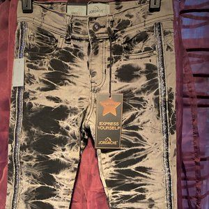 NWT Jordache Jeans Tie Wash Ankle Length Size 7